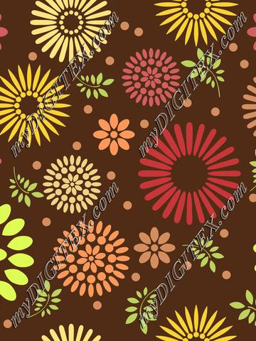 Flowers on a brown background