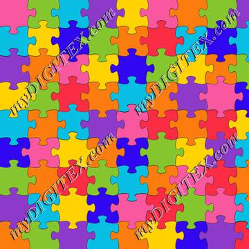 Colorful puzzle pattern