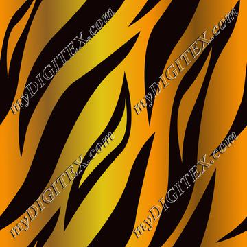 Tiger Skin natural orange tiger stripes