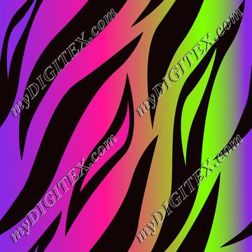 Tiger Skin Neon Colors