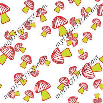 Colorful mushroom pattern 1-01
