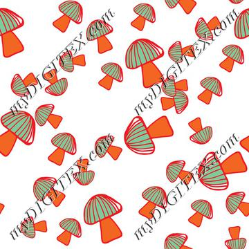 Colorful mushroom pattern 2-01