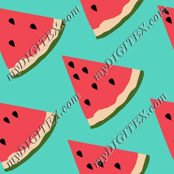 Watermelon on Blue Summer Fruit