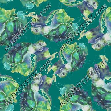 Watercolor Turtle Pattern