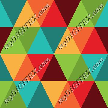 Retro Raibow Abstract Geometric Pattern