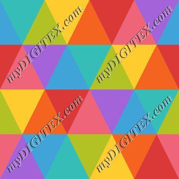 Abstract Geometric Rainbow Pattern