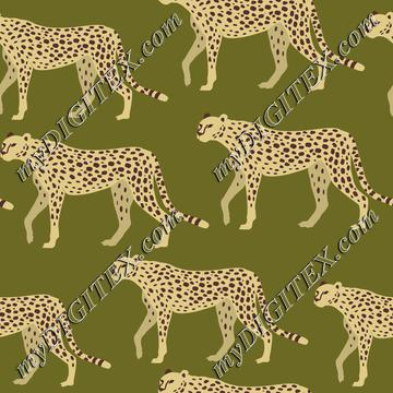 Cheetah, Leopard, Jaguar on Green
