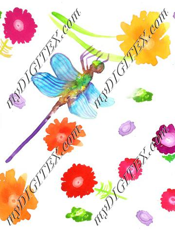 dragonflywithflowers