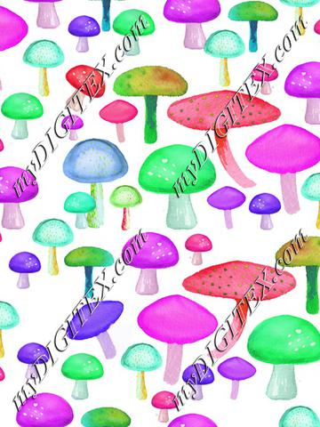 colorful mushrooms 2
