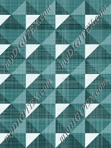 Geometric Green Linen