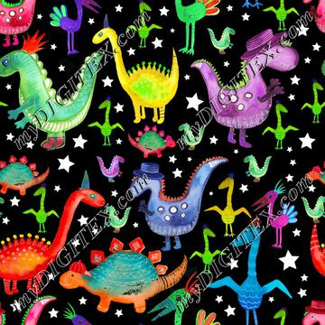 Dino Pattern2with stars_AngiMullhatten-01