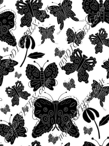 butterfly pattern black and white-01