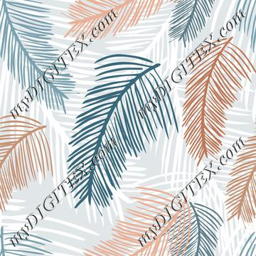 feathery palm leaves