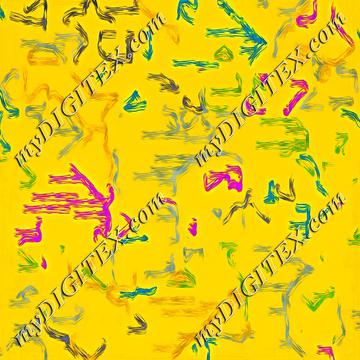 Colorful strokes on a yellow background