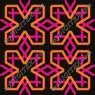 Pink orange shapes