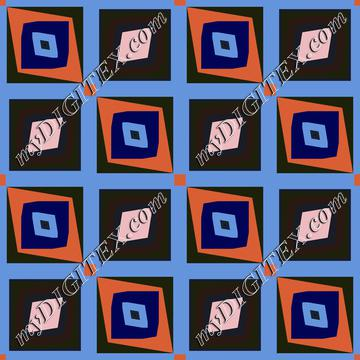 Rhombus in squares pattern