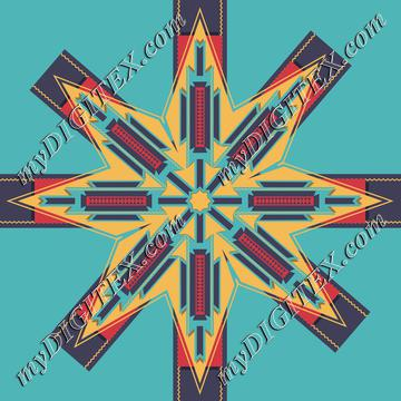 Tribal retro star