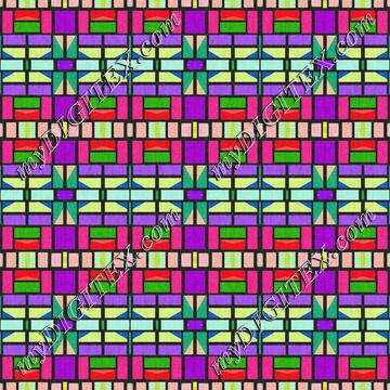 Colorful shapes pattern