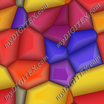 3d colorful shapes