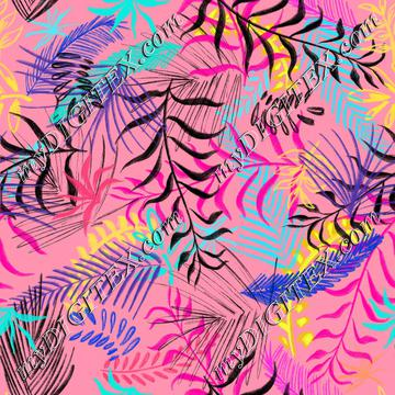 Leaves on a pink background