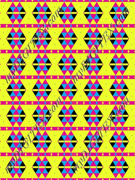 Triangles on a yellow background pattern