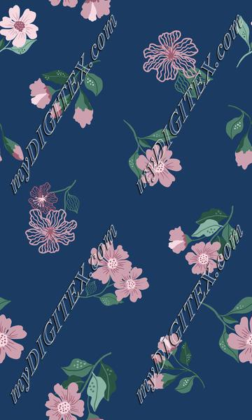Navy floral print