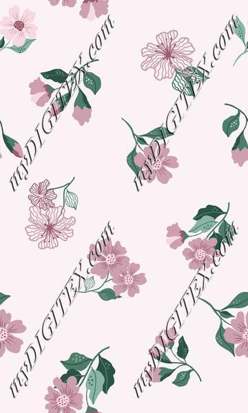 Pretty pink floral print
