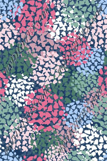 Abstract Hydrangea Print