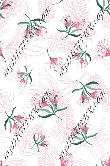 Summer tropics Fabric Print