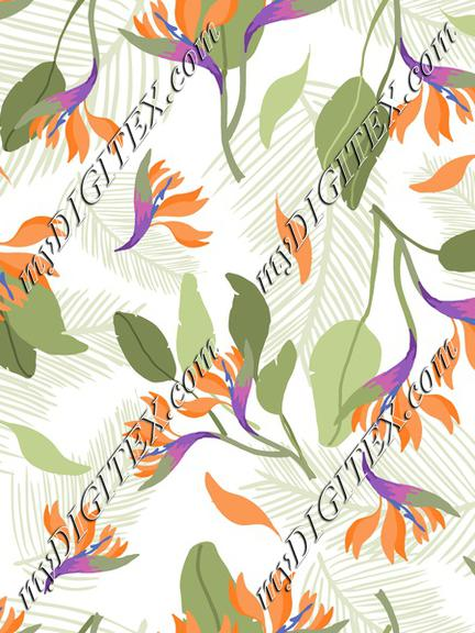 Tropical fashion print