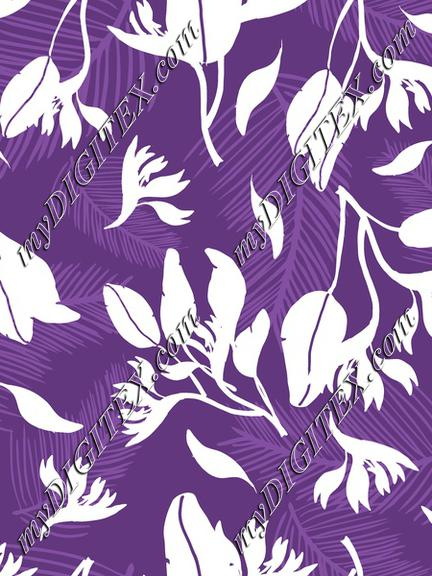 Purple Tropical Fashion Print