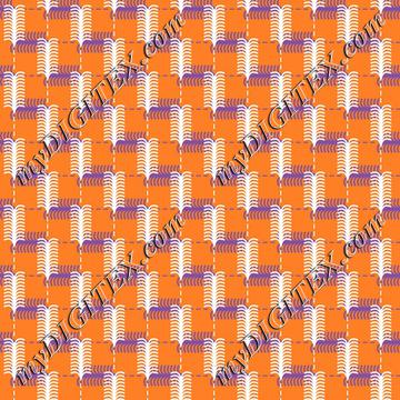 Modern Geometric Orange Purple and White Print