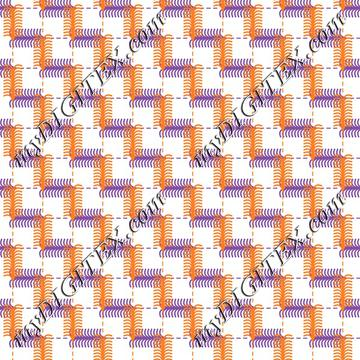 Geometric fashion print Purple and Orange