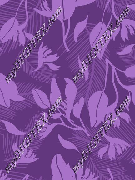 Modern Tropical Purple Fashion Print