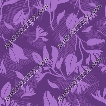 Modern Tropical Purple Fashion Print
