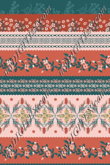 Earthy Rust Floral