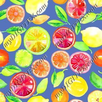 Citrus in Watercolor Violet BG