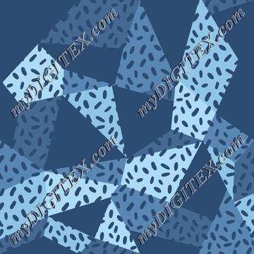 Moody Blue Geo Print