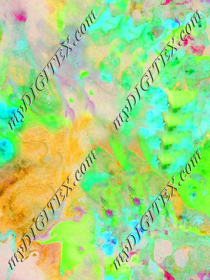 marbled fabric yellow teal