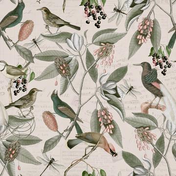 Nostalgic Bird Pattern