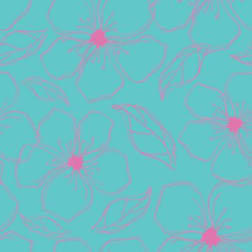 Line Art Flower Pattern
