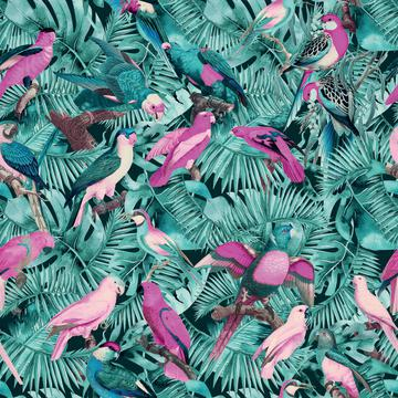 Jungle Parrots Pattern