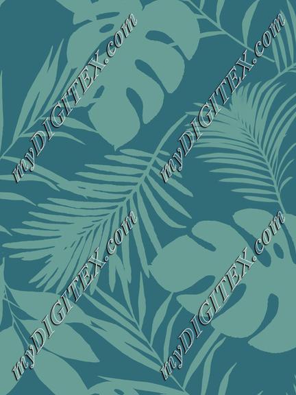 Palm And Monstera Pattern