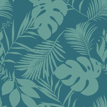 Palm And Monstera Pattern
