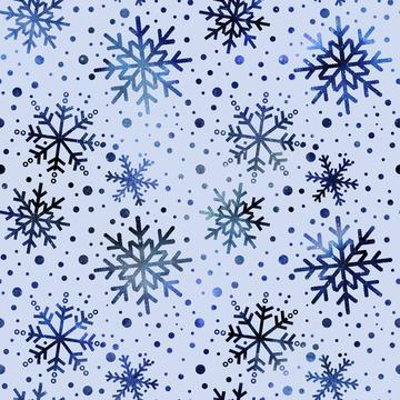 Blue Snow Crystal Pattern