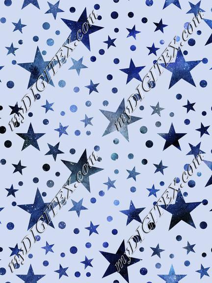 Blue Watercolor Stars