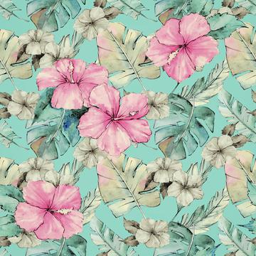 Pastel Exotic Flowers