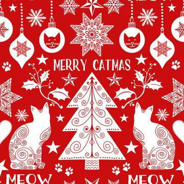 Merry Catmas red