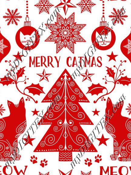 Merry Catmas white