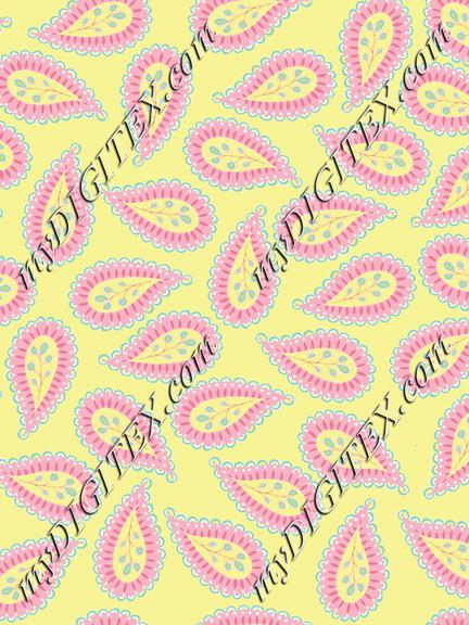 Pastel Paisley coord. yellow bg-01